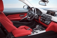 BMW 420d Coupé Sport Line, Mineralgrau Metallic, 184PS, 380 Nm, Interieur: Leder Dakota Korallrot mit Akzentnaht Schwarz, Alu Längsschliff fein, Akzentleiste Schwarz, hochglänzend