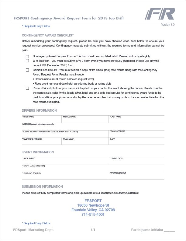 2013 Award Request Form 1/1