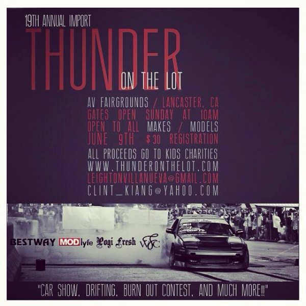 Thunder on the Lot Flyer