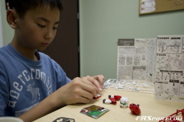 Nam working hard on his scale model of a more advanced racing machine ;)