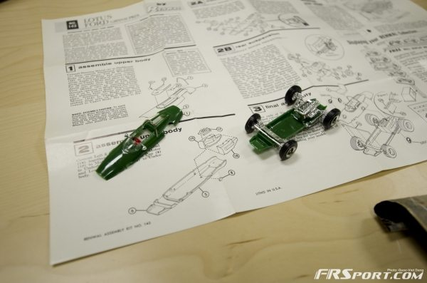 The suspension work is quite detailed on this small cheap model.