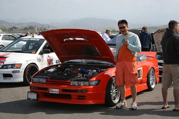 Kandi and I at the 2009 SCCA Pro Solo in El Toro. Picture taken by Stephen Yeoh.
