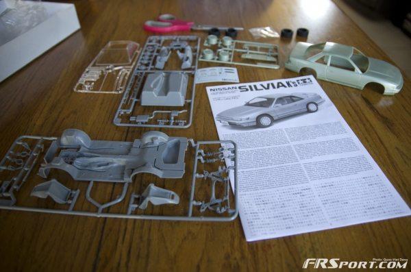 Parts laid out.