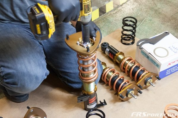 FR SPORT BRZ Stance Coilover Install -013