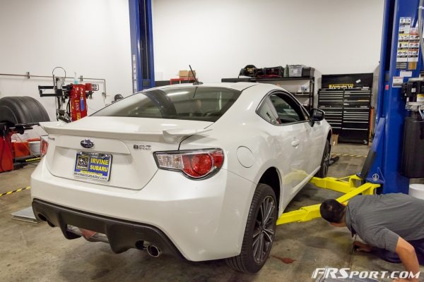 FR SPORT BRZ Stance Coilover Install -020