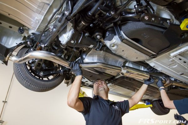 Subaru BRZ Blitz Exhaust Install-017