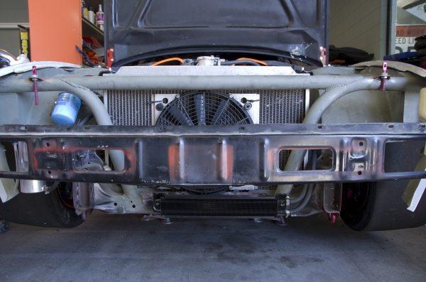 Power Steering Cooler mounted.